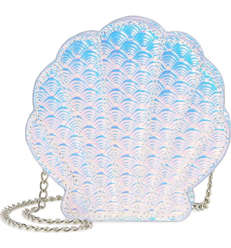 CAPELLI NEW YORK Seashell Iridescent Crossbody Bag, Main, color, 040