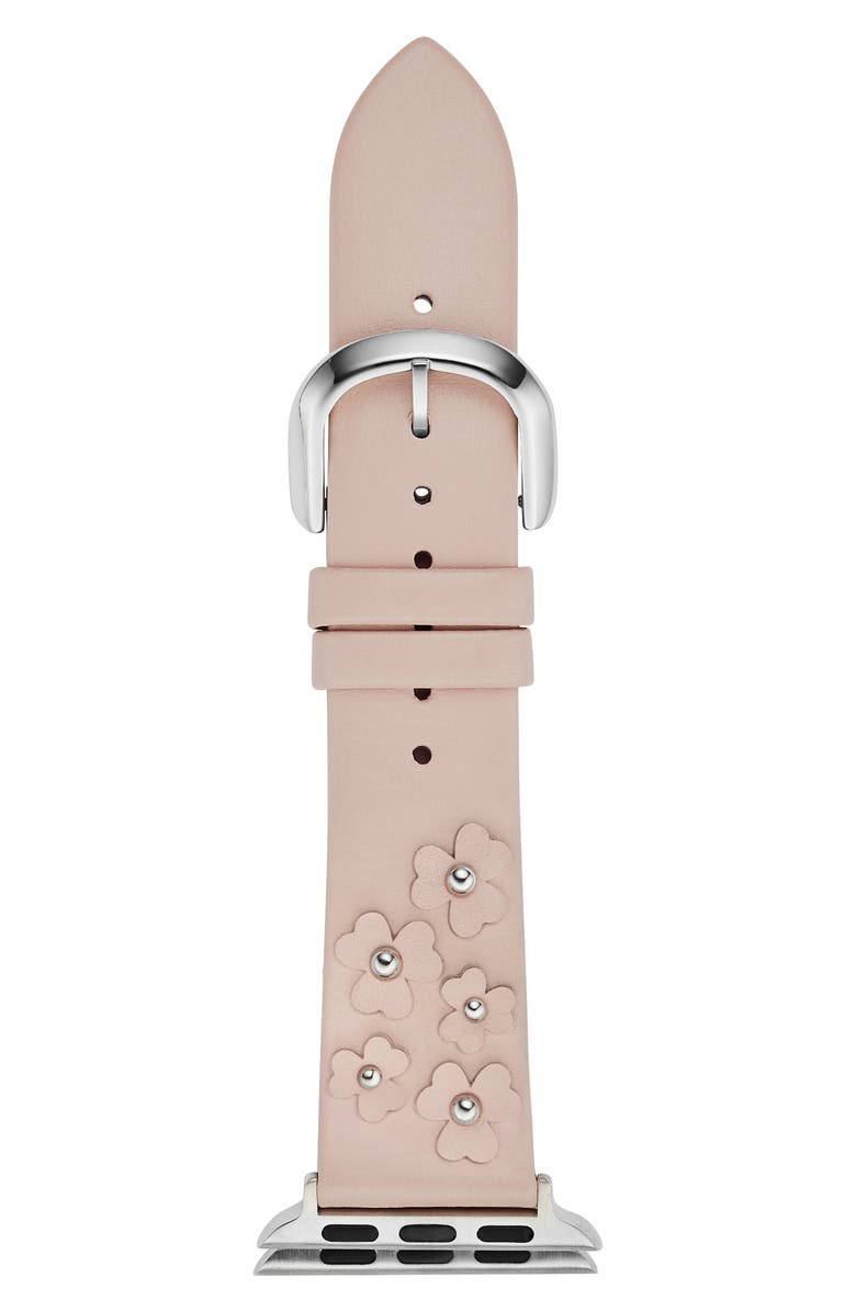 KATE SPADE NEW YORK Apple<sup>®</sup> watch strap, 38mm, Main, color, BLUSH