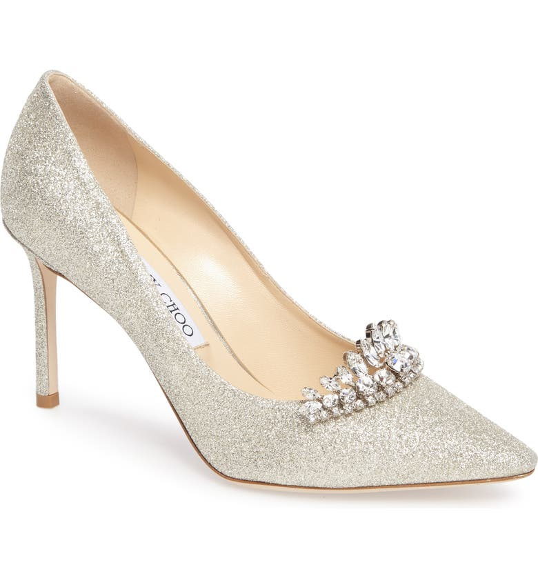 price reduced save up to 80% hot sales Jimmy Choo Romy Crystal Tiara Glitter Pump (Women) | Nordstrom