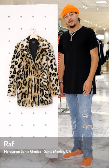 Animal Leopard Faux Fur Coat, sales video thumbnail
