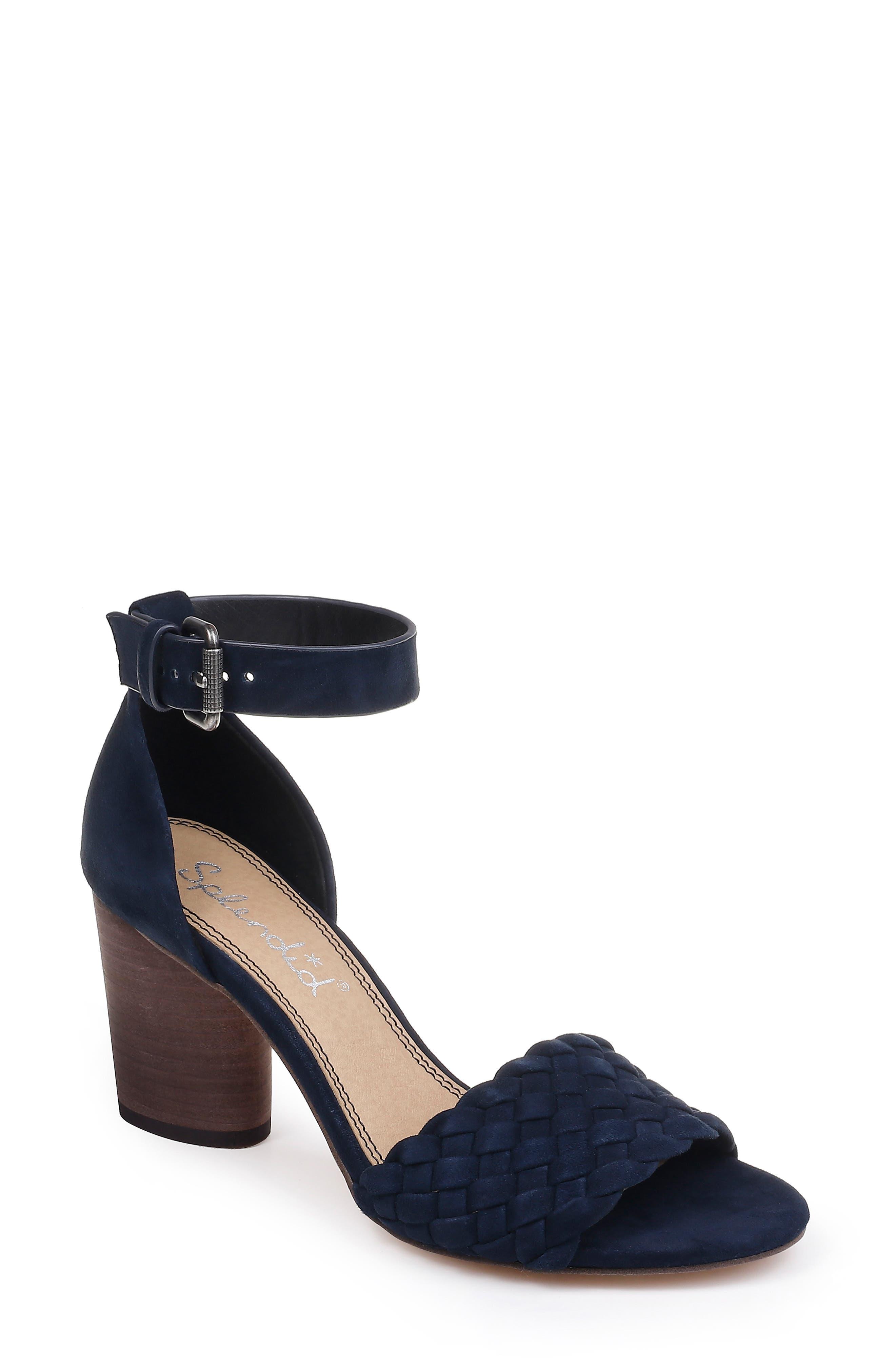 Splendid Taro Woven Ankle Strap Sandal- Blue