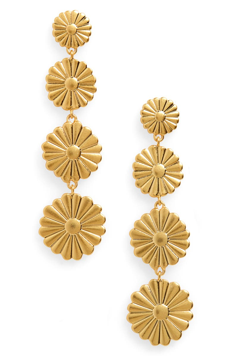 MADEWELL Delicate Daisy Statement Earrings, Main, color, 710