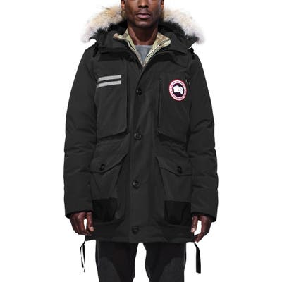 Canada Goose Maccullough Genuine Coyote Fur Trim Down Parka, Black
