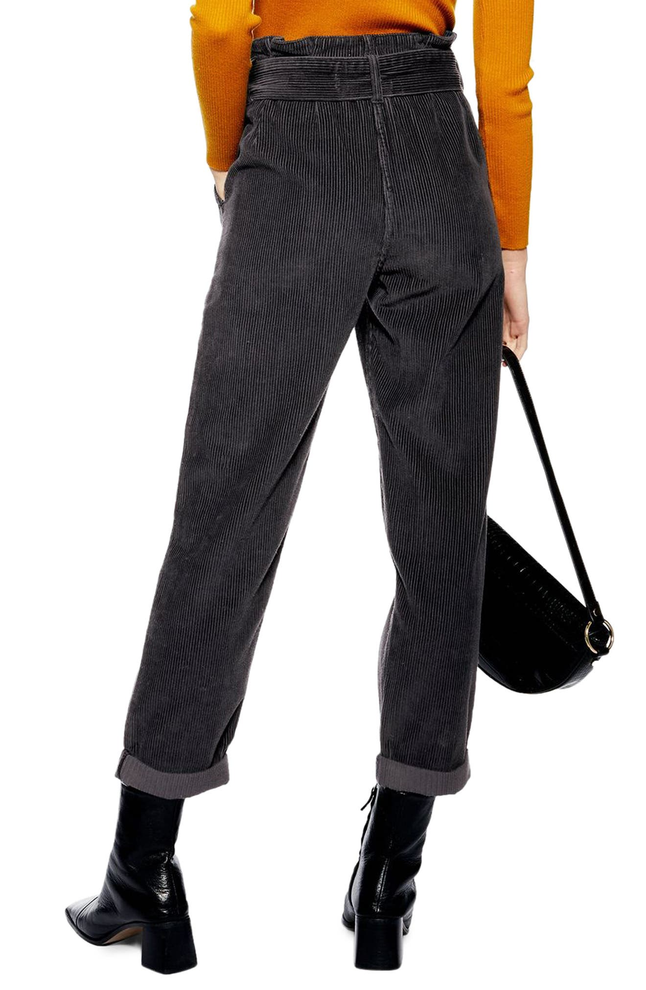,                             Corduroy Paperbag Waist Trousers,                             Alternate thumbnail 2, color,                             411