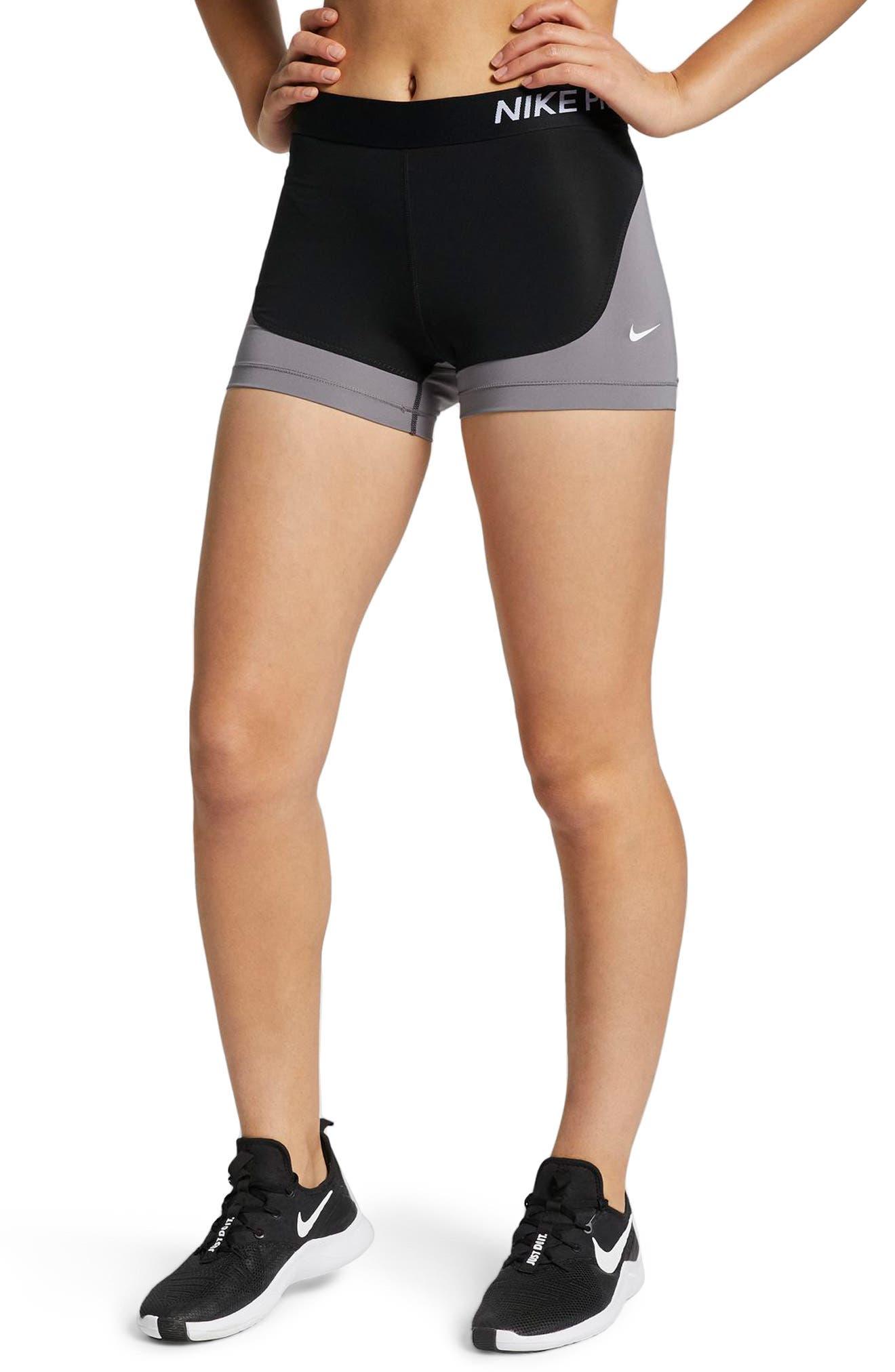 Pro Compression Shorts, Main, color, BLACK/ GUN SMOKE/ WHITE