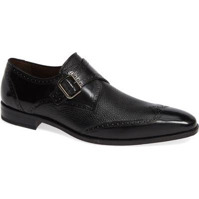 Mezlan Senator Monk Strap Shoe- Black