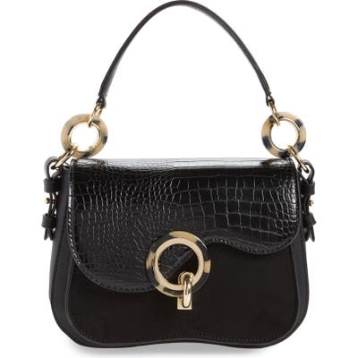 Topshop Carlo Shoulder Bag - Black