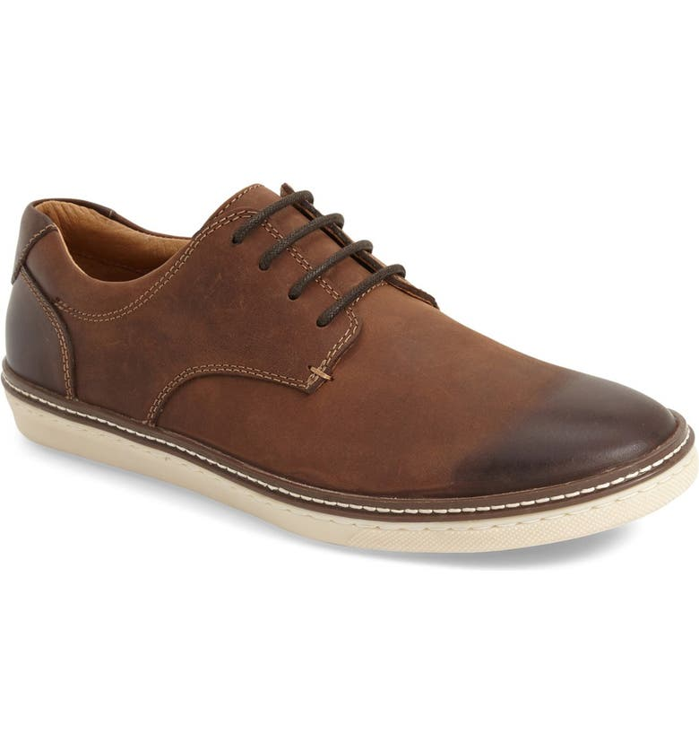 JOHNSTON & MURPHY 'McGuffey' Plain Toe Derby, Main, color, TAN CALFSKIN