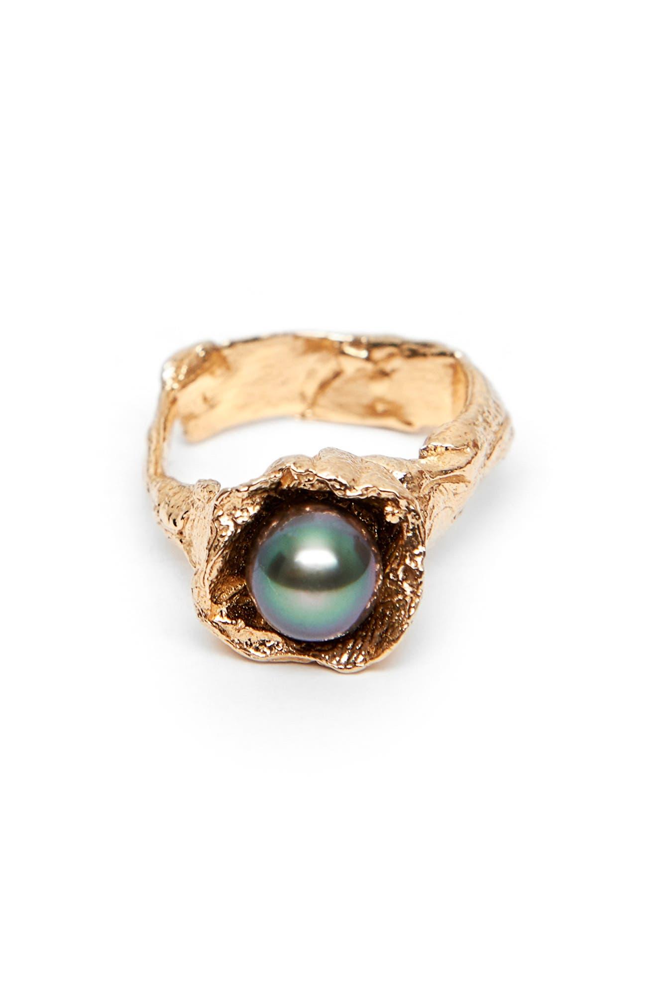 Small Hydra Tahitian Pearl Ring