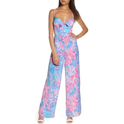 Lilly Pulitzer Bente Bow Front Jumpsuit, Pink