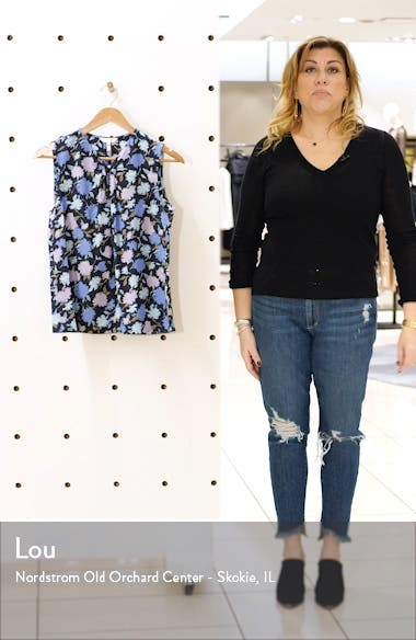 Pom Floral Silk Blend Jacquard Top, sales video thumbnail