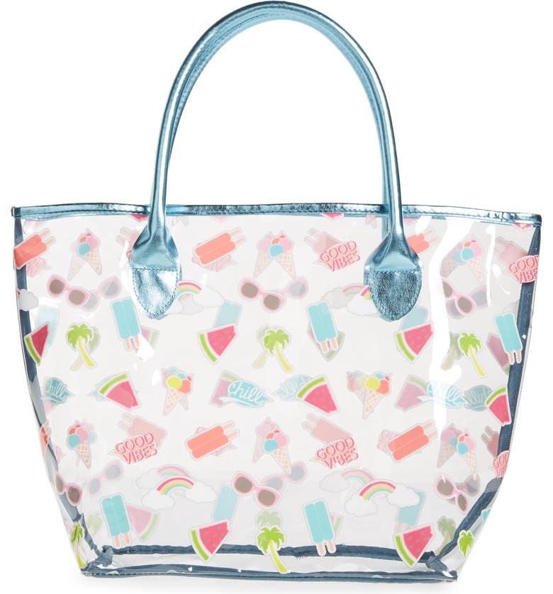 Hy Summer Sticker Jelly Tote Bag