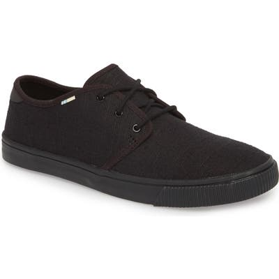 Toms Carlo Low Top Sneaker, Black