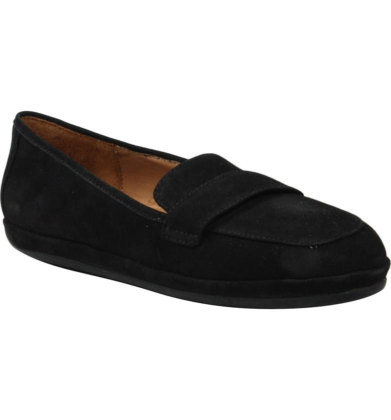 L'AMOUR DES PIEDS Yasmeen Driving Loafer, Main, color, BLACK NUBUCK