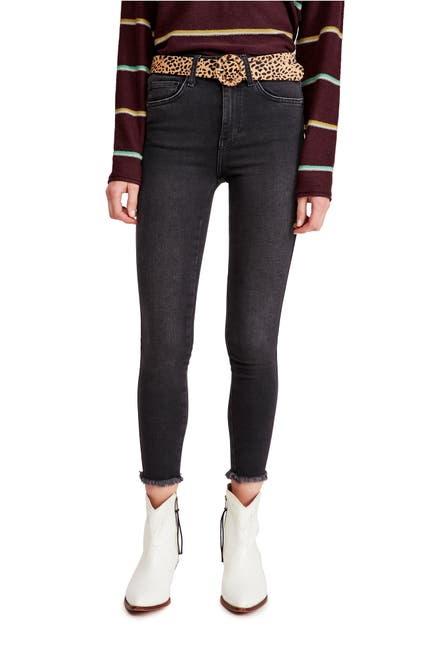 Image of Free People Raw High Rise Jeggings