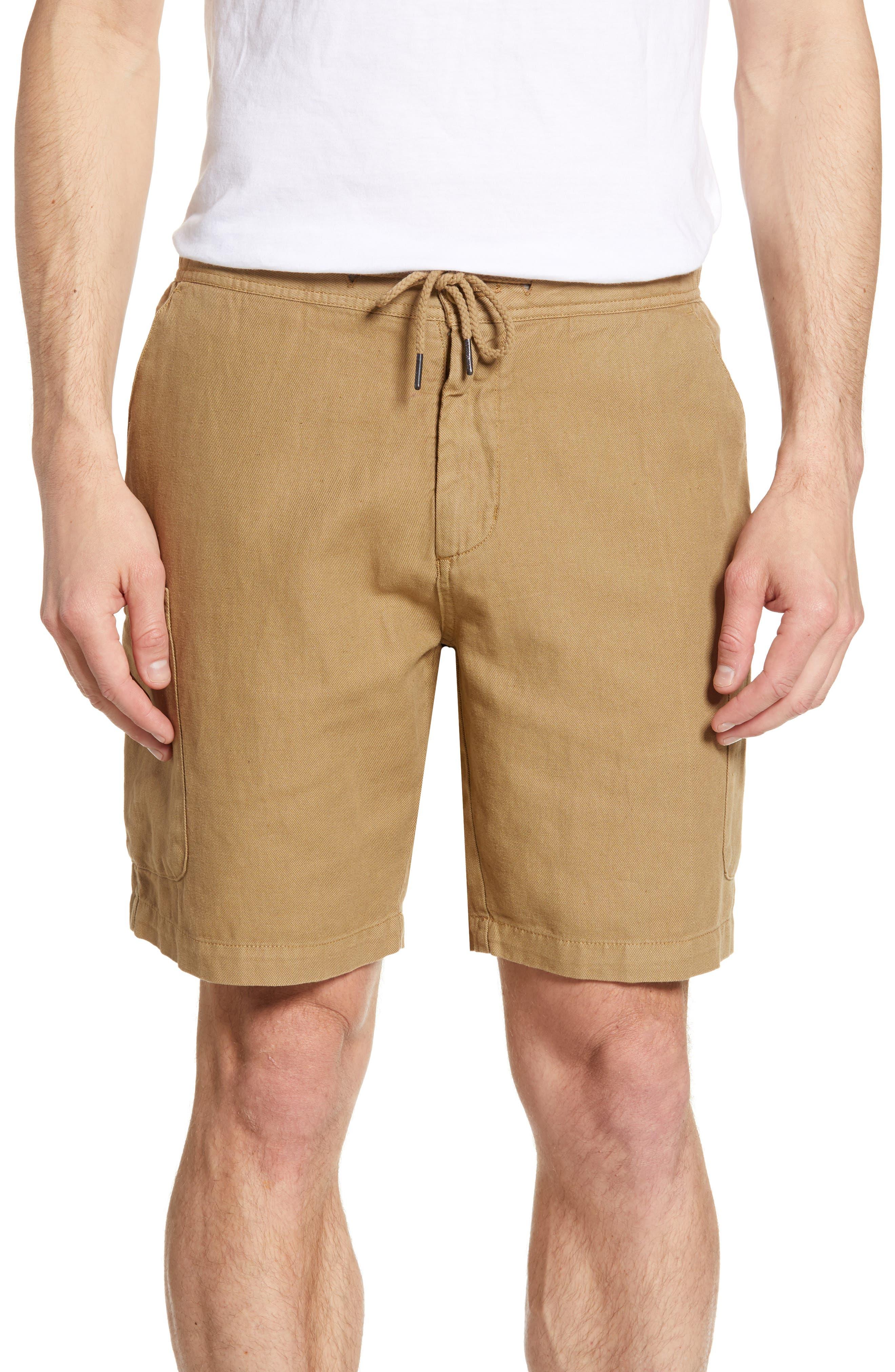 Reyn Spooner Linen Blend Cargo Shorts, Brown