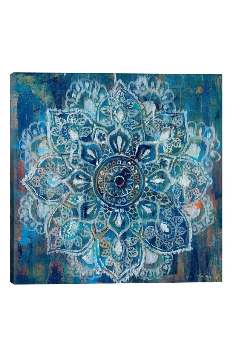 ICanvas Mandala In Blue II By Danhui Nai Gicl E Print Canvas Art