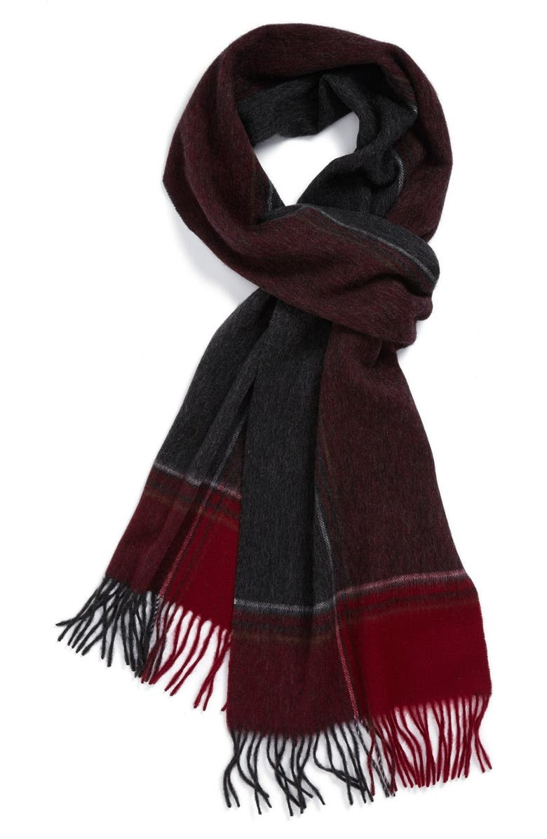 NORDSTROM Plaid Scarf, Main, color, 930