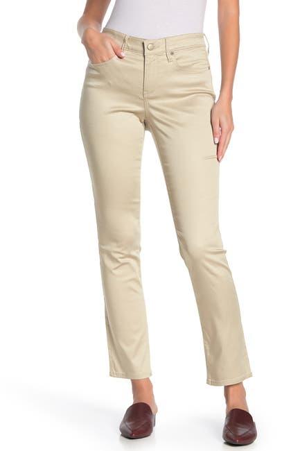Image of NYDJ Sheri Polka Dot Print Slim Fit Jeans