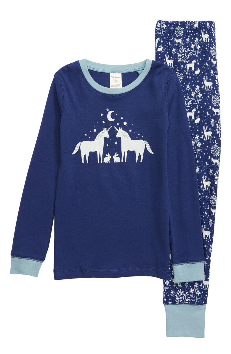 MINI BODEN Cozy Fitted Two-Piece Pajamas, Main, color, 414