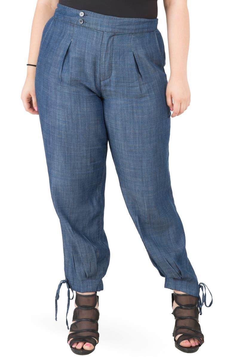 STANDARDS & PRACTICES Robie Trousers, Main, color, BLUE