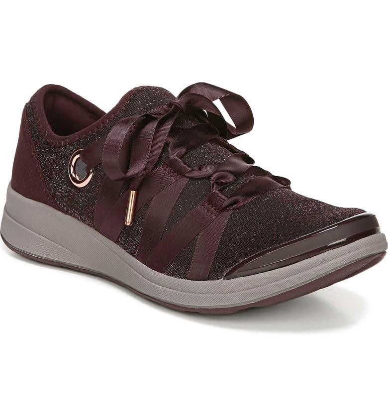 BZEES Inspire Sneaker, Main, color, MERLOT FABRIC