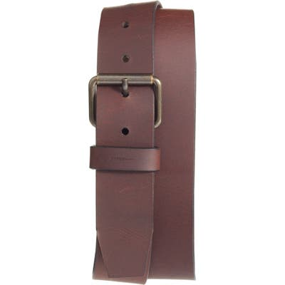 Shinola Rambler Leather Belt, Dark Brown