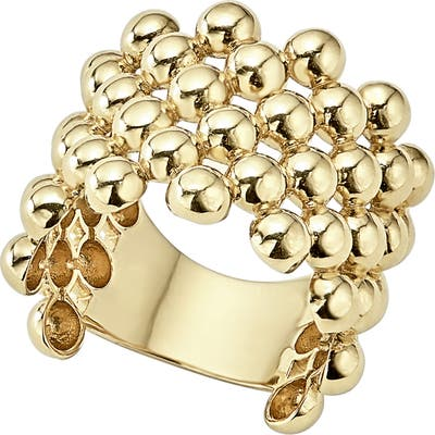 Lagos Caviar Gold Wide Band Ring