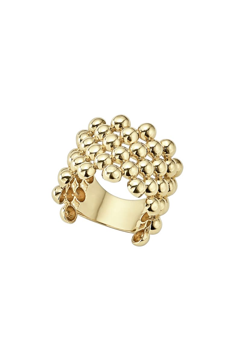 LAGOS Caviar Gold Wide Band Ring, Main, color, GOLD