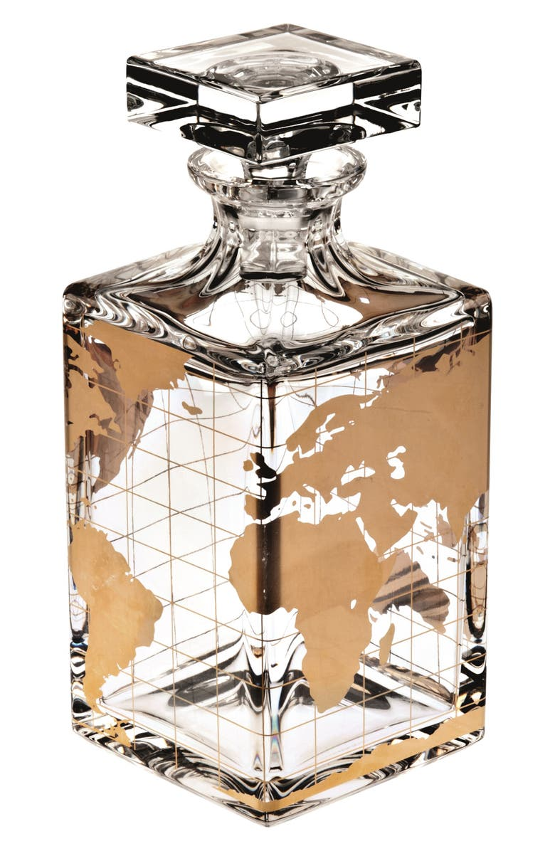 VISTA ALEGRE Vista Alegre Atlas Lead Crystal Spirits Decanter, Main, color, GOLD