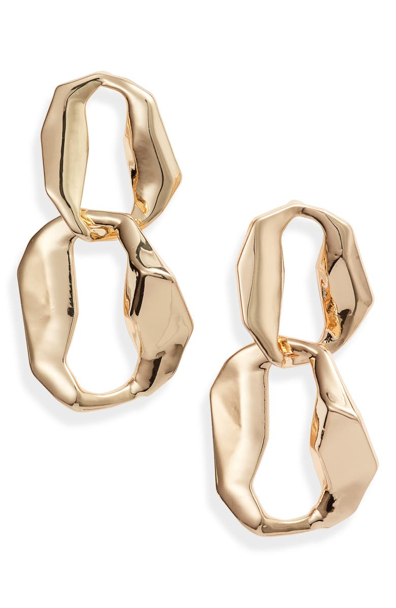 8 OTHER REASONS x Jill Jacobs Hoop Drop Earrings, Main, color, GOLD