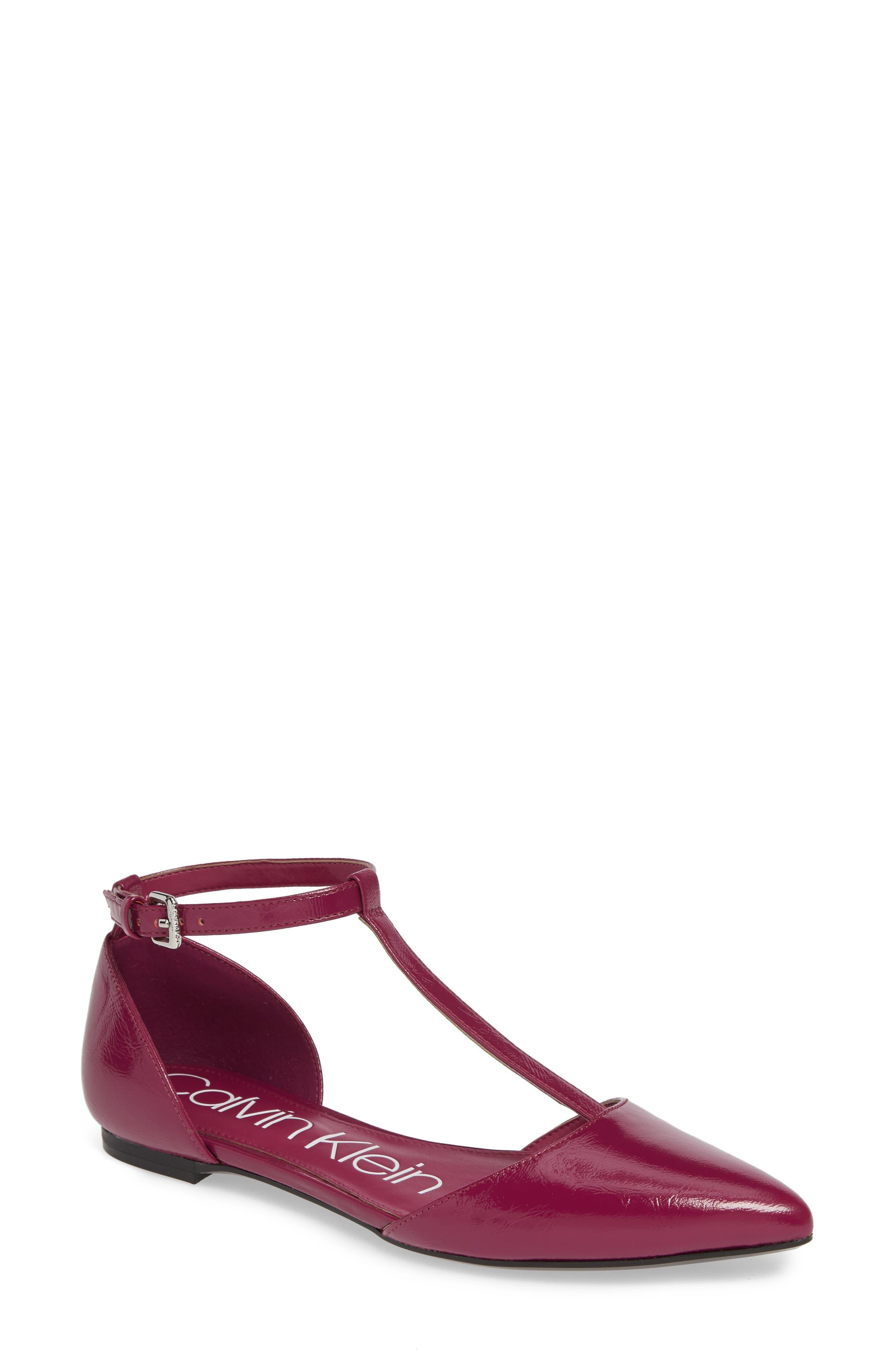 Calvin Klein Ghita T-Strap Flat, Purple