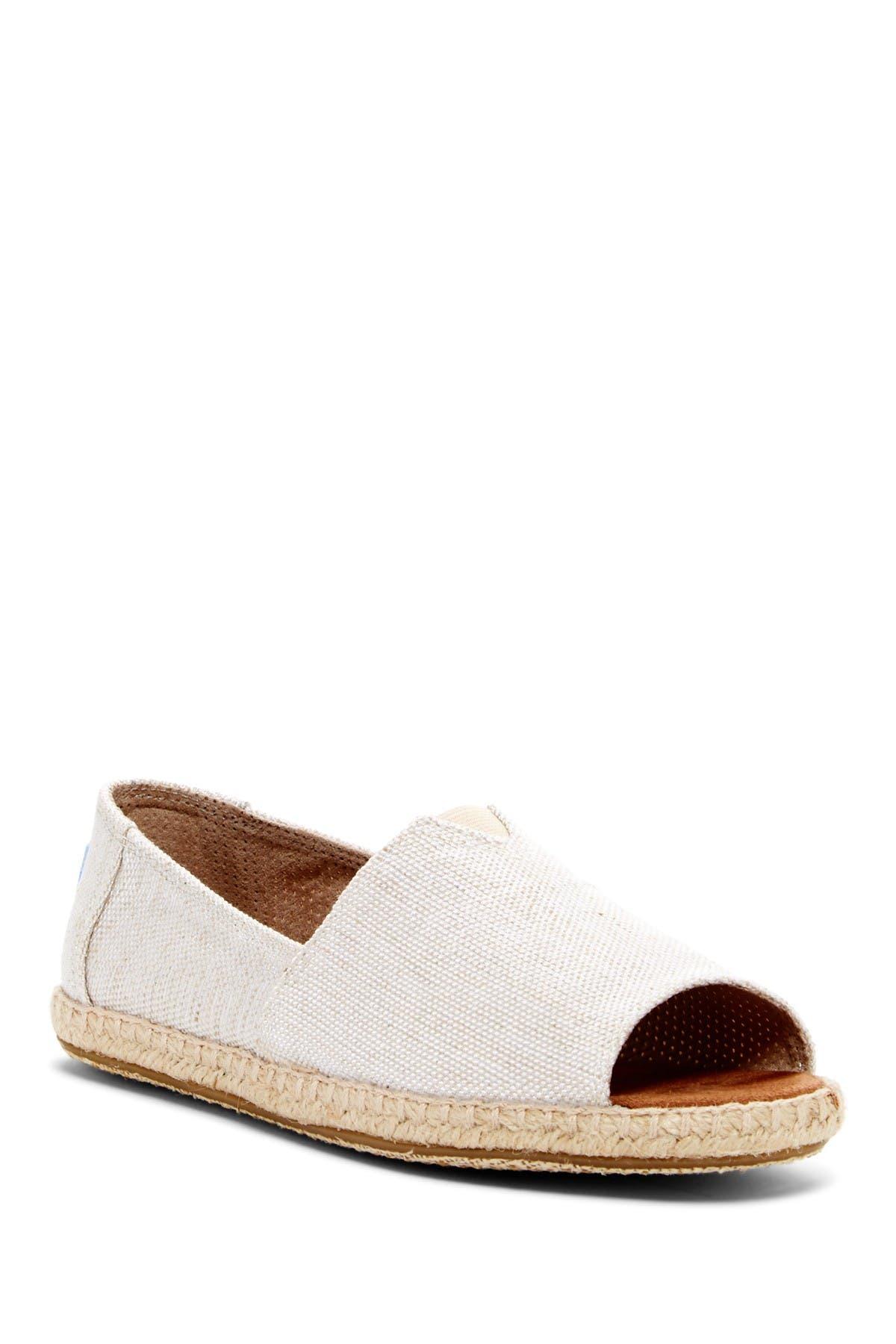 TOMS | Alpargata Open Toe Slip-On Flat