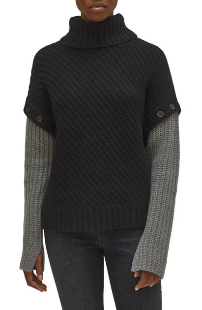 Equipment ALUINE REMOVABLE SLEEVES TURTLENECK SWEATER