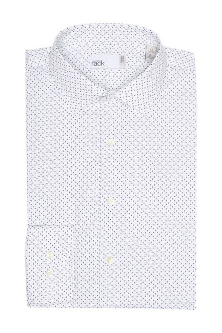 Image of Nordstrom Rack Paisley Trim Fit Non-Iron Dress Shirt