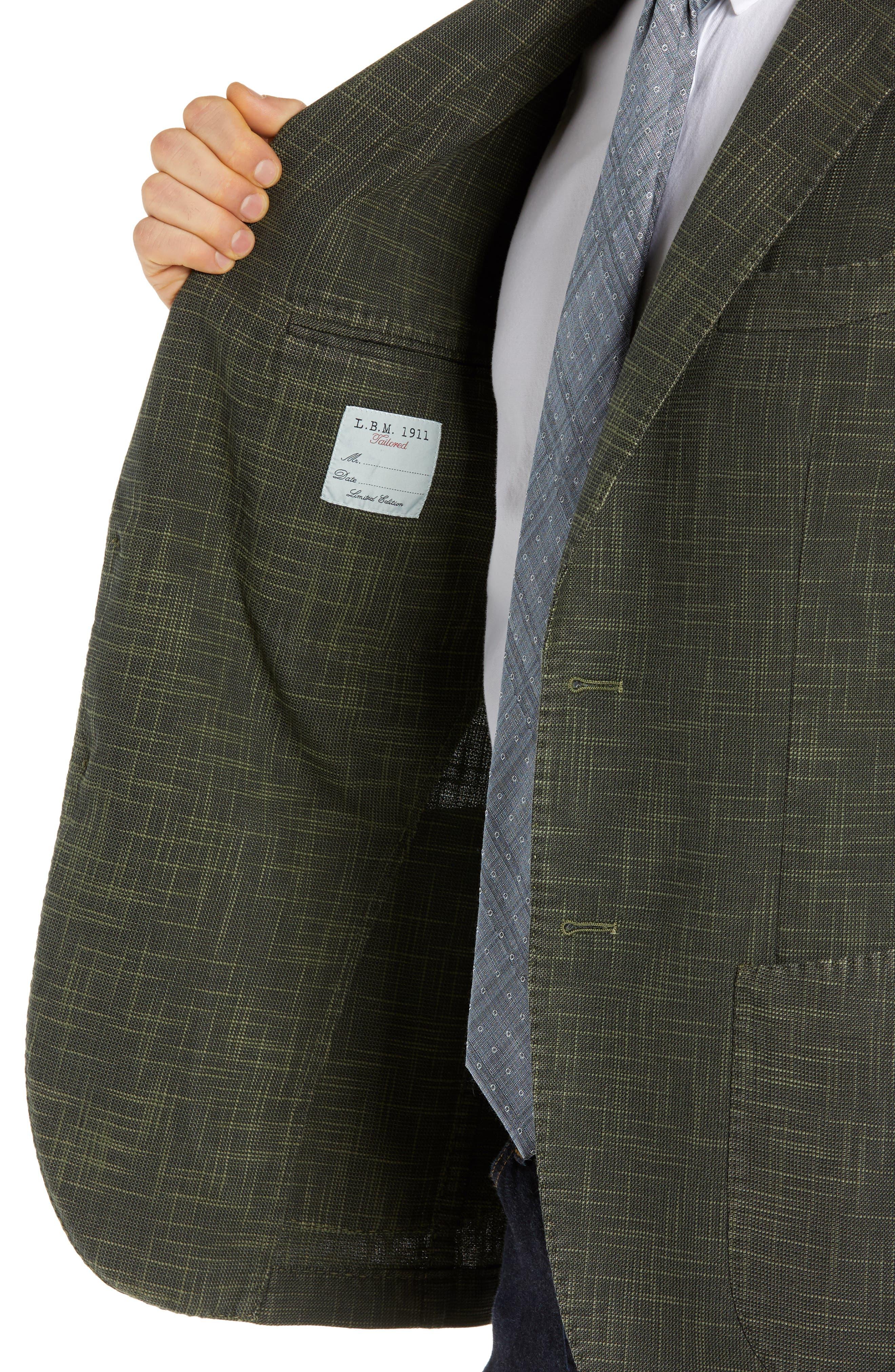 ,                             Trim Fit Cotton Blend Sport Coat,                             Alternate thumbnail 5, color,                             DARK GREEN