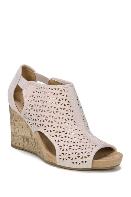 Image of LifeStride Hinx Perforated Wedge Sandal - Wide Width Available