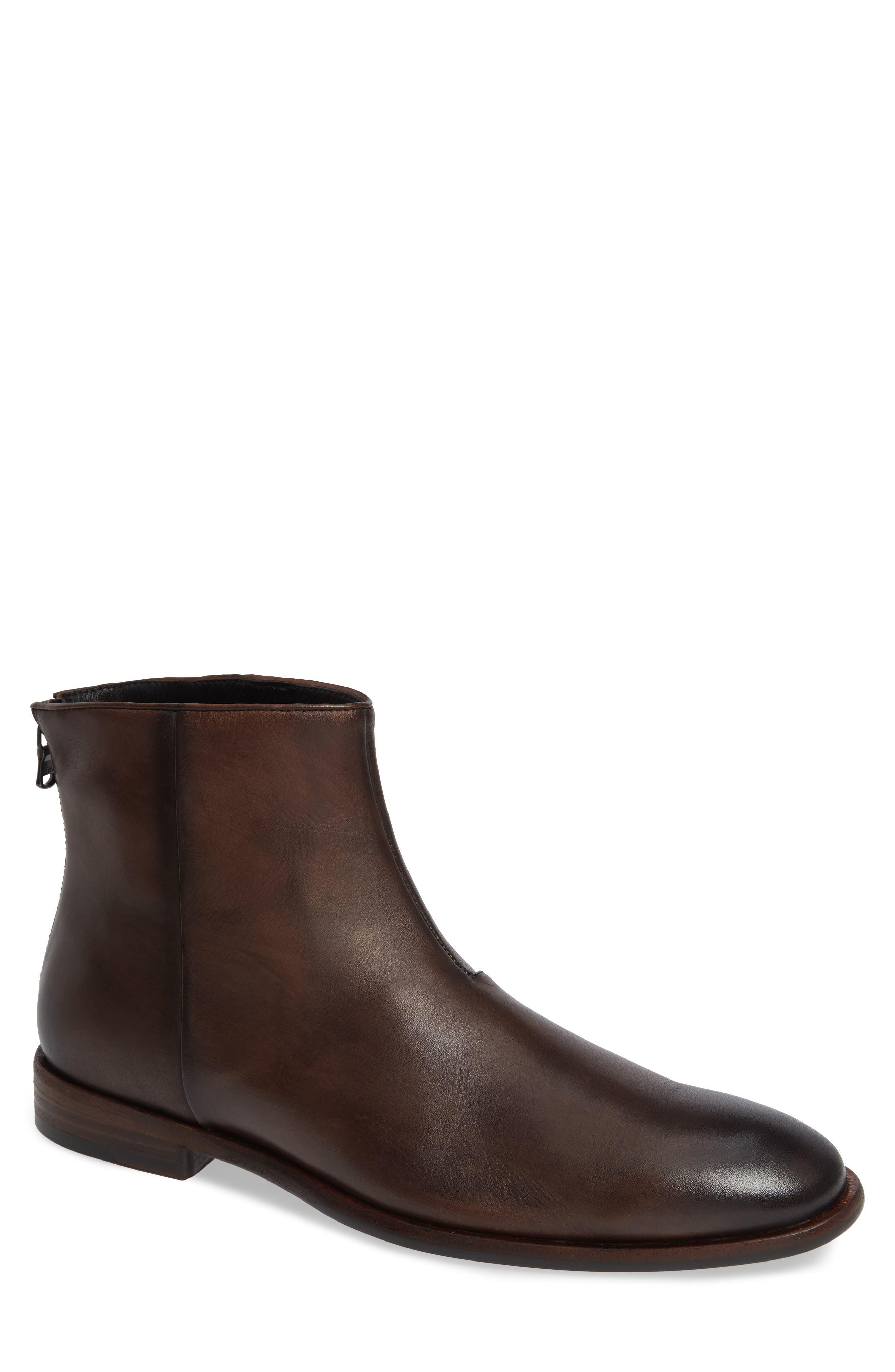 John Varvatos Star Usa Nyc Back Zip Boot, Brown