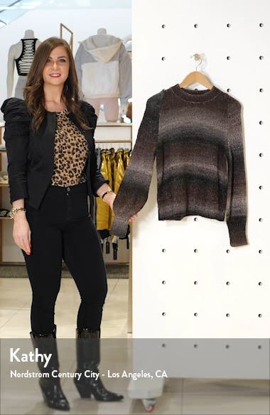 Ombré Metallic Stripe Sweater, sales video thumbnail