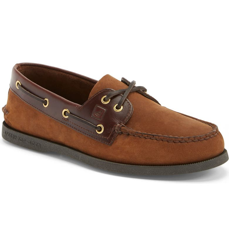 SPERRY 'Authentic Original' Boat Shoe, Main, color, Brown/ Brown