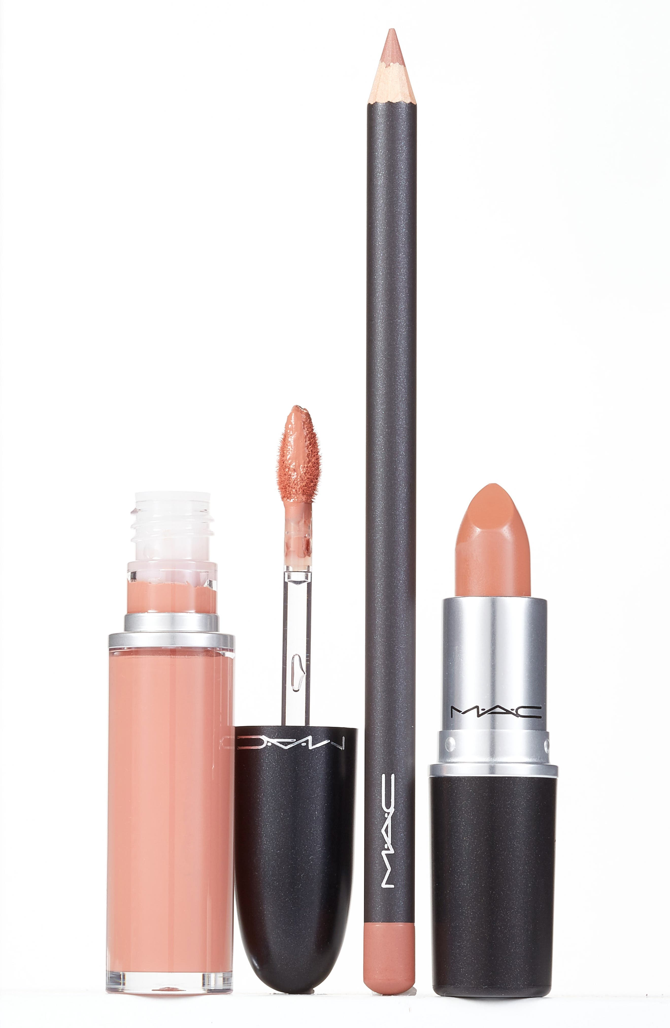 ,                             MAC Nude Lip Kit,                             Main thumbnail 1, color,                             NO COLOR