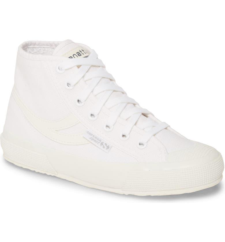 SUPERGA 2795 Cotu Panatta High Top Sneaker, Main, color, TRUE WHITE
