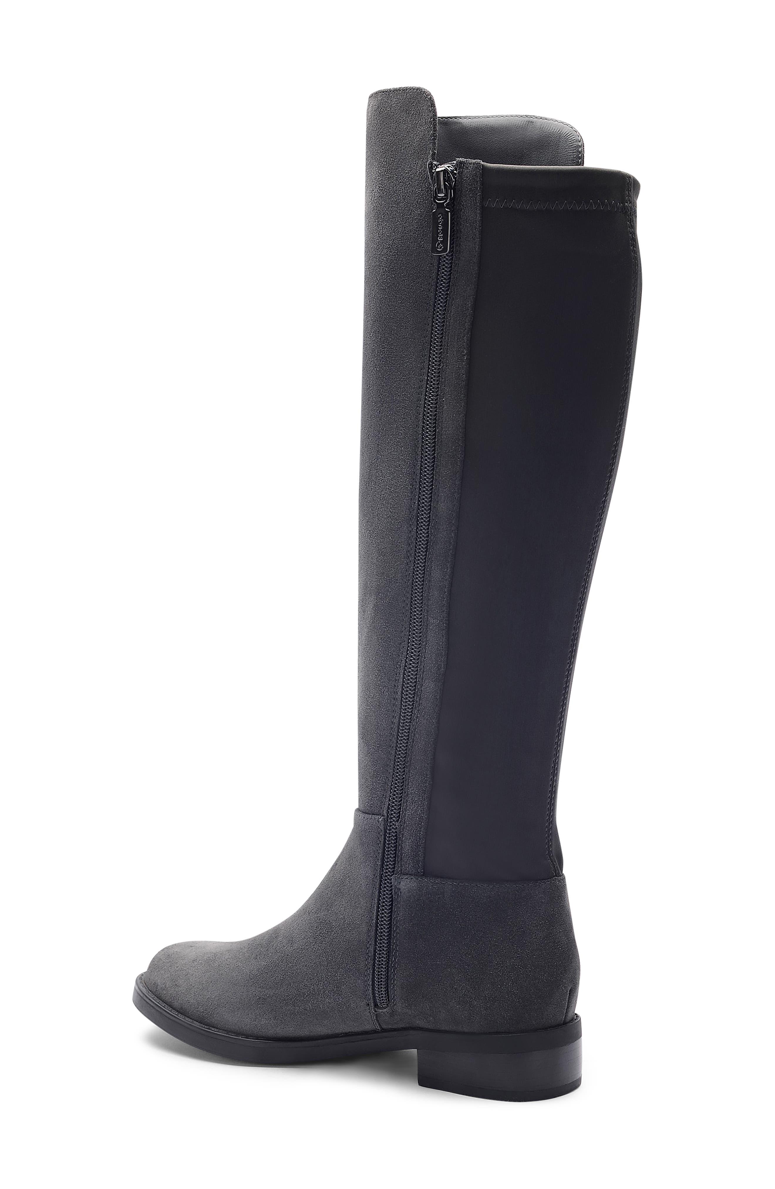 ,                             Ellie Waterproof Knee High Riding Boot,                             Alternate thumbnail 2, color,                             DARK GREY SUEDE