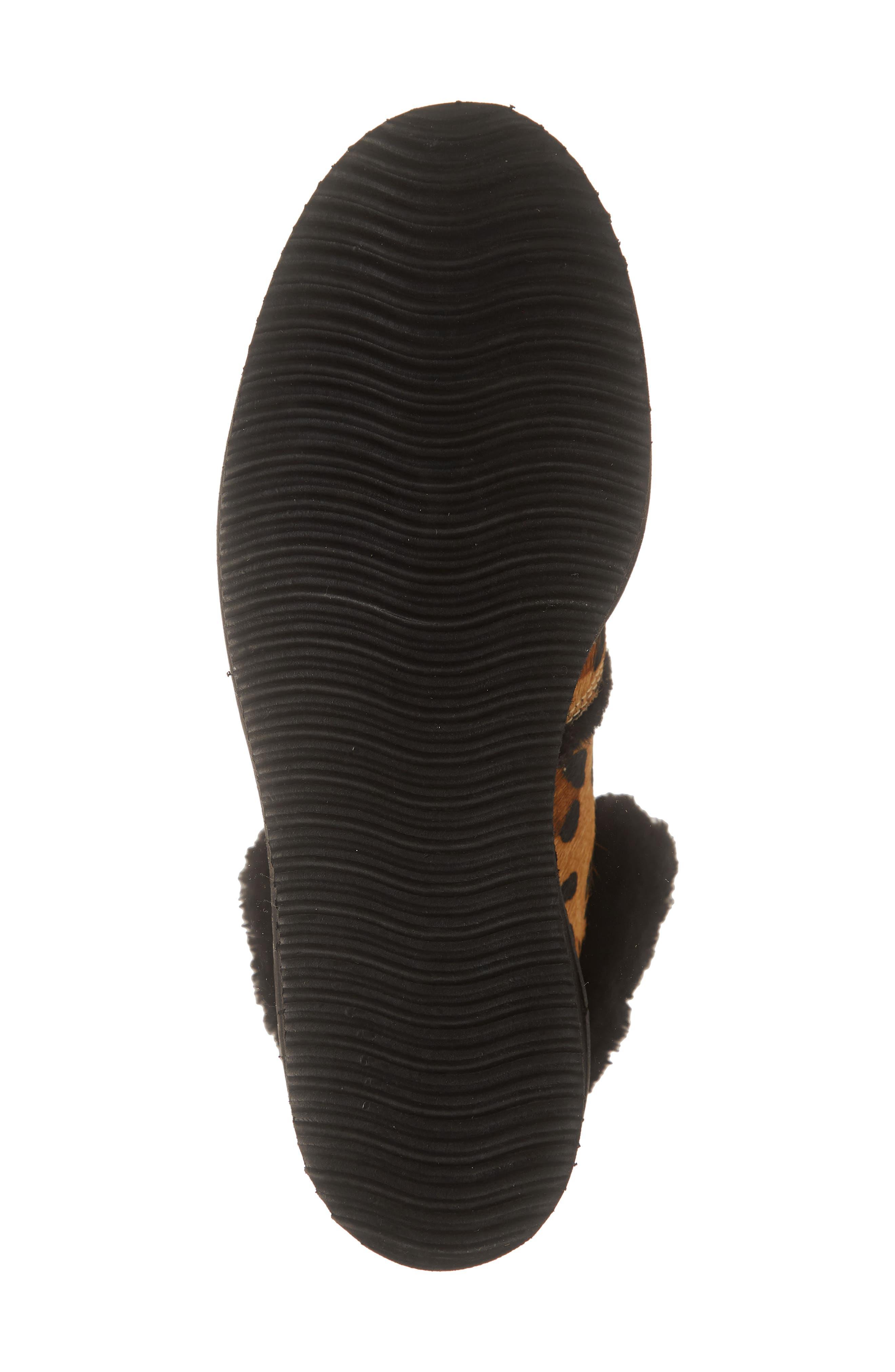 ,                             Tonkin Genuine Calf Hair Hiker Boot,                             Alternate thumbnail 6, color,                             BLACK LEOPARD LEATHER