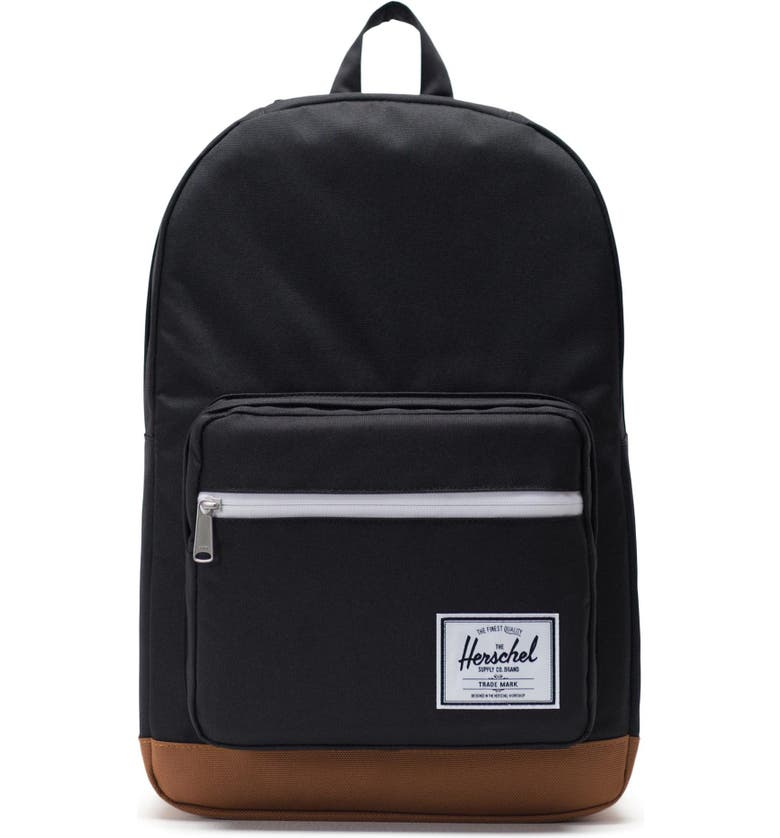 HERSCHEL SUPPLY CO. Pop Quiz Backpack, Main, color, BLACK/ SADDLE BROWN