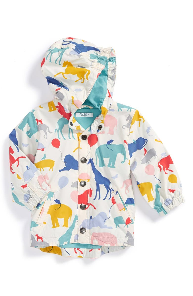 MINI BODEN Hooded Rain Jacket, Main, color, 991