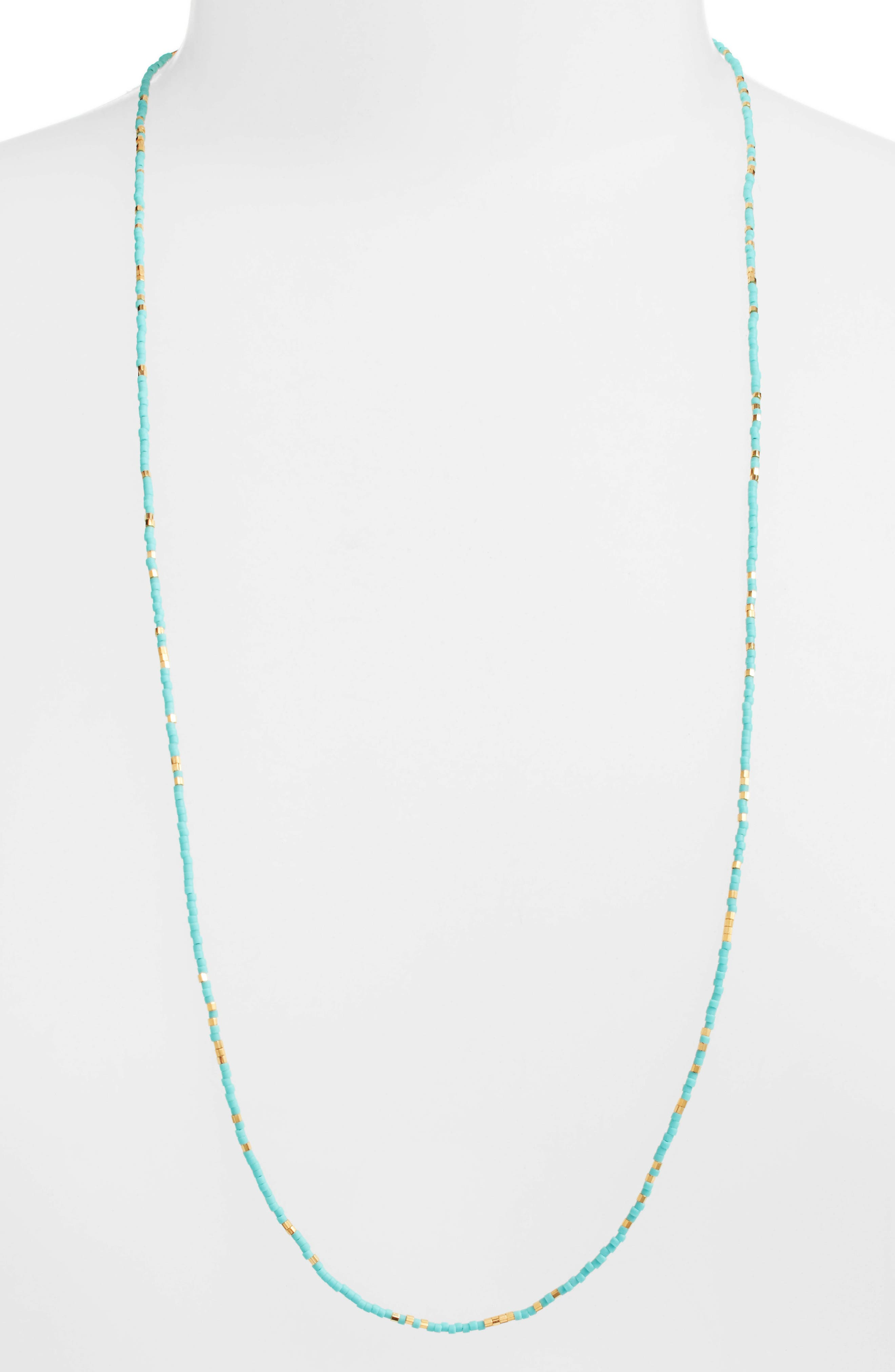 Chan Luu Womens Turquoise Statement Necklace