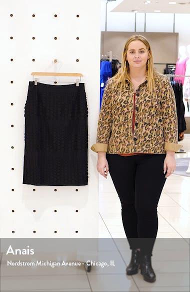 Embroidered Dot Cotton Blend Midi Skirt, sales video thumbnail