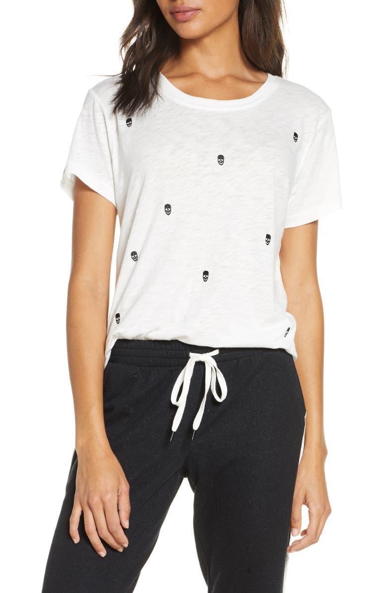 PJ SALVAGE Black Out Print Sleep T-Shirt, Main, color, 900