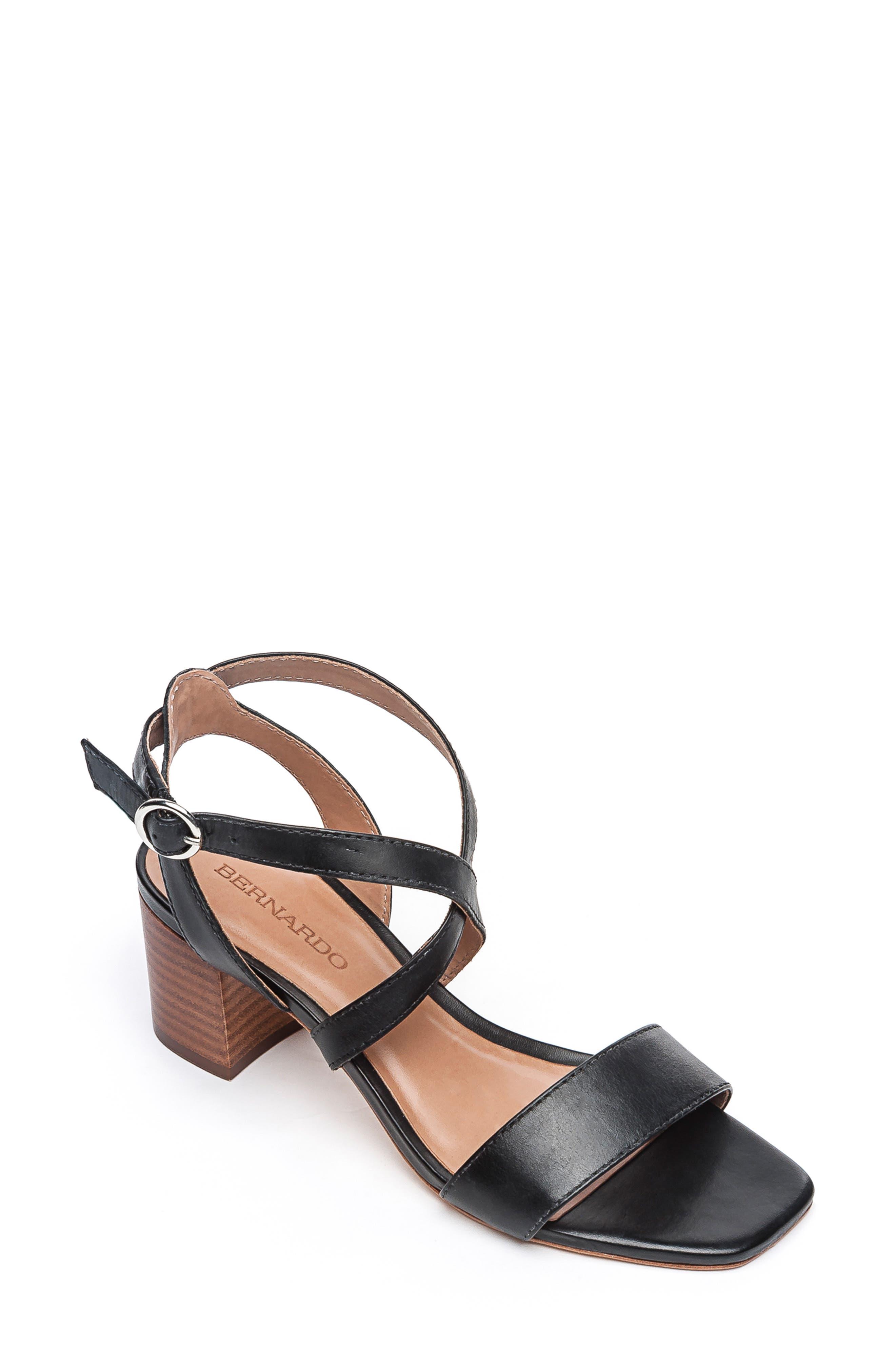 Bernardo Brielle Block Heel Sandal, Black